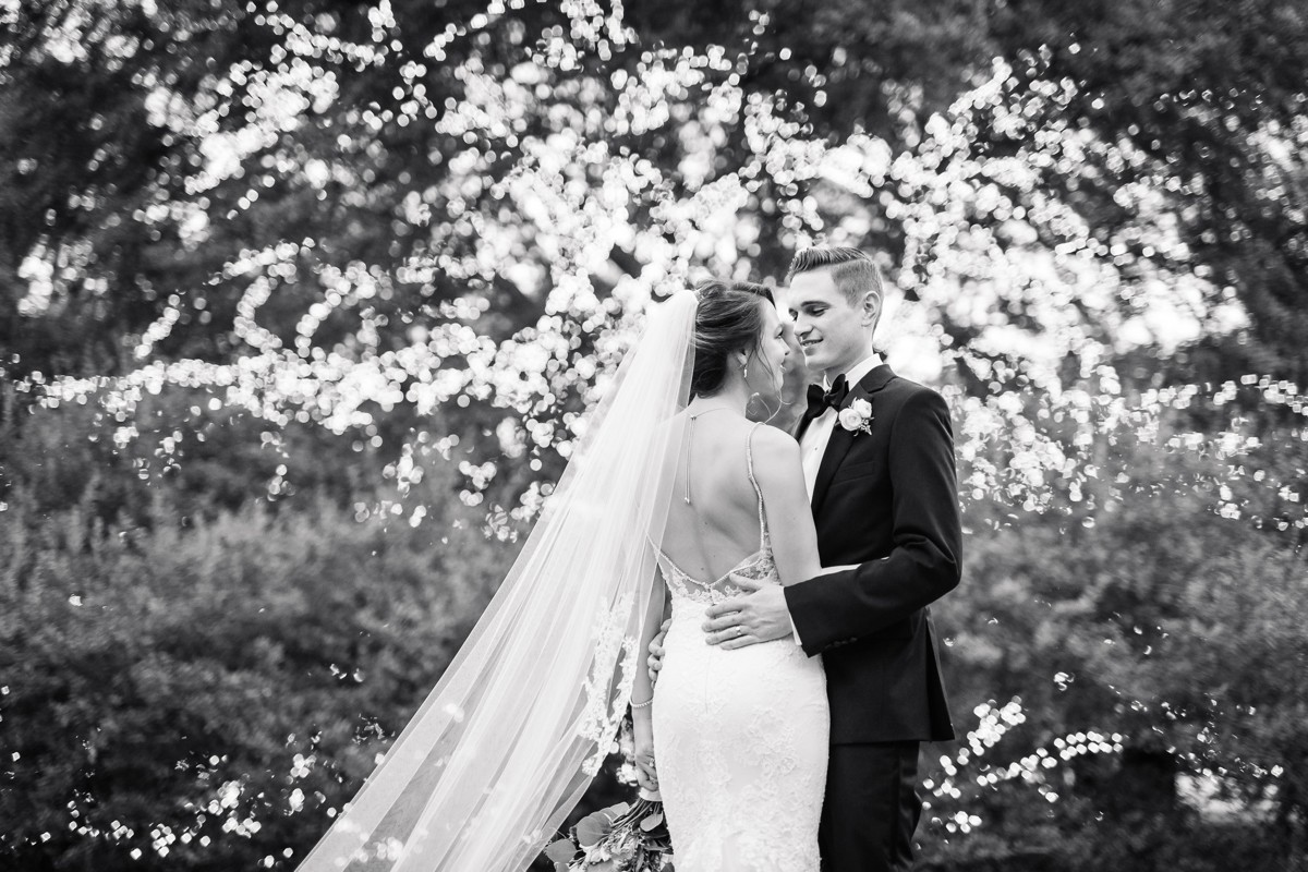 Manor House Wedding at The Houstonian Hotel Outdoor Bride and Groom Portraits