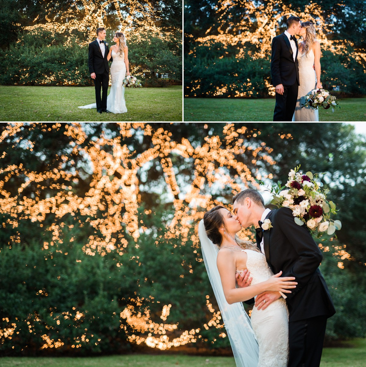 Manor House Wedding at The Houstonian Hotel Night time outdoor Bride and Groom