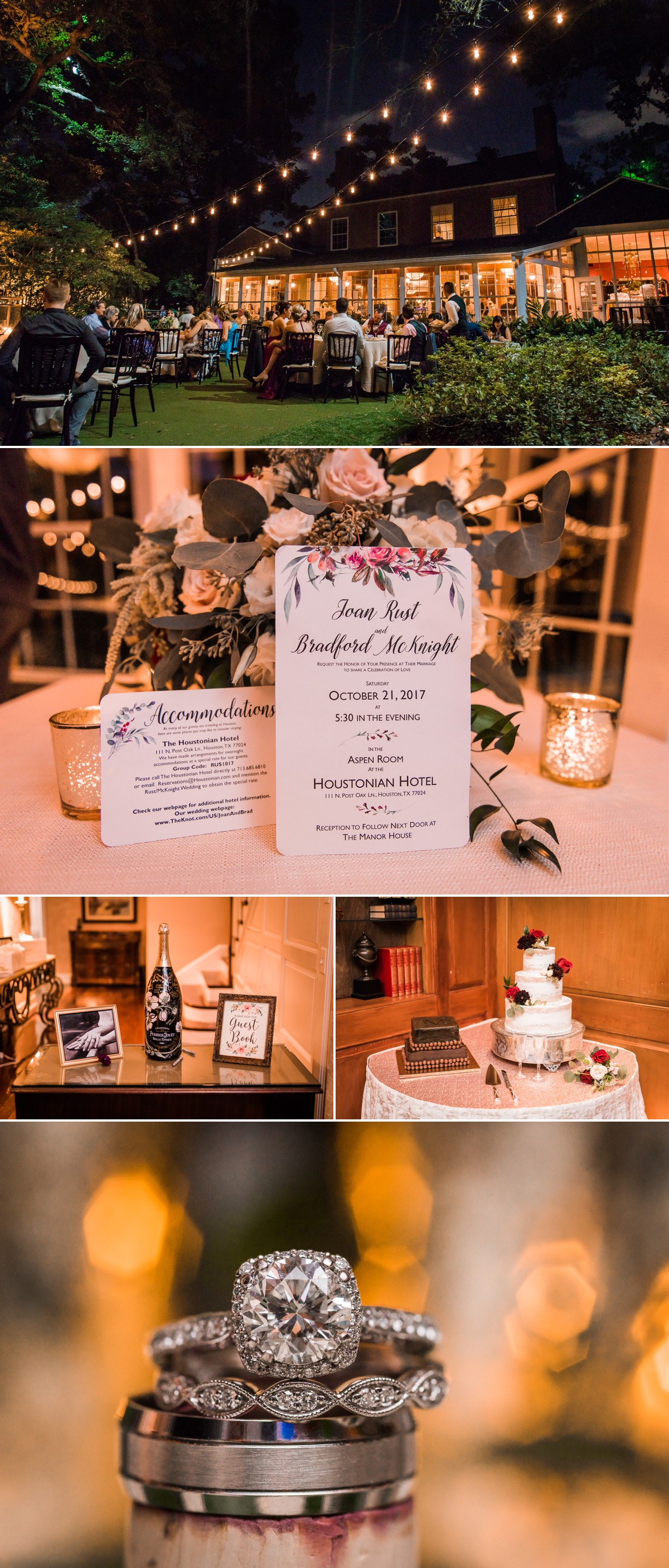 Manor House Wedding at The Houstonian Hotel Reception Venue Cake Rings