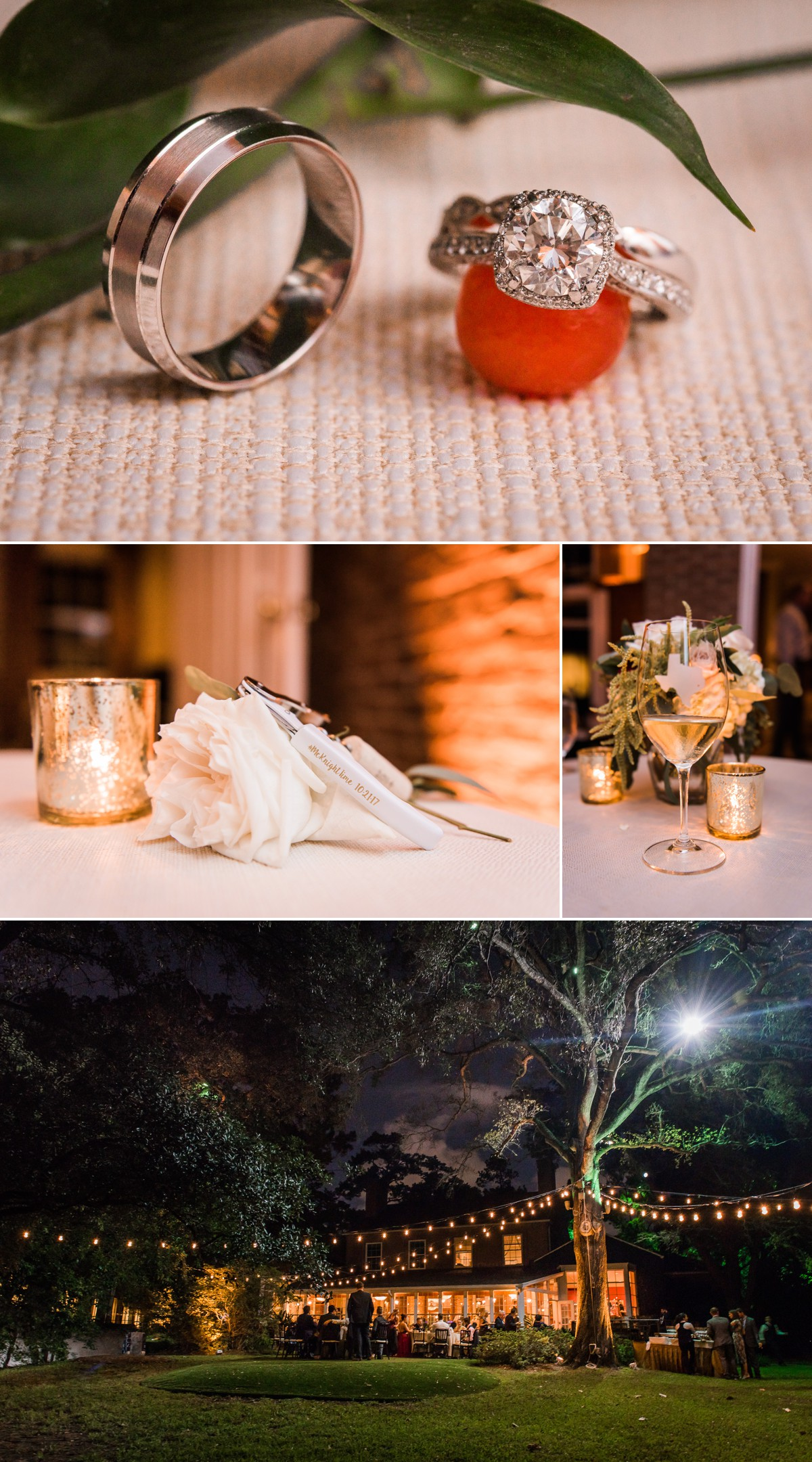 Manor House Wedding at The Houstonian Hotel Reception details night time