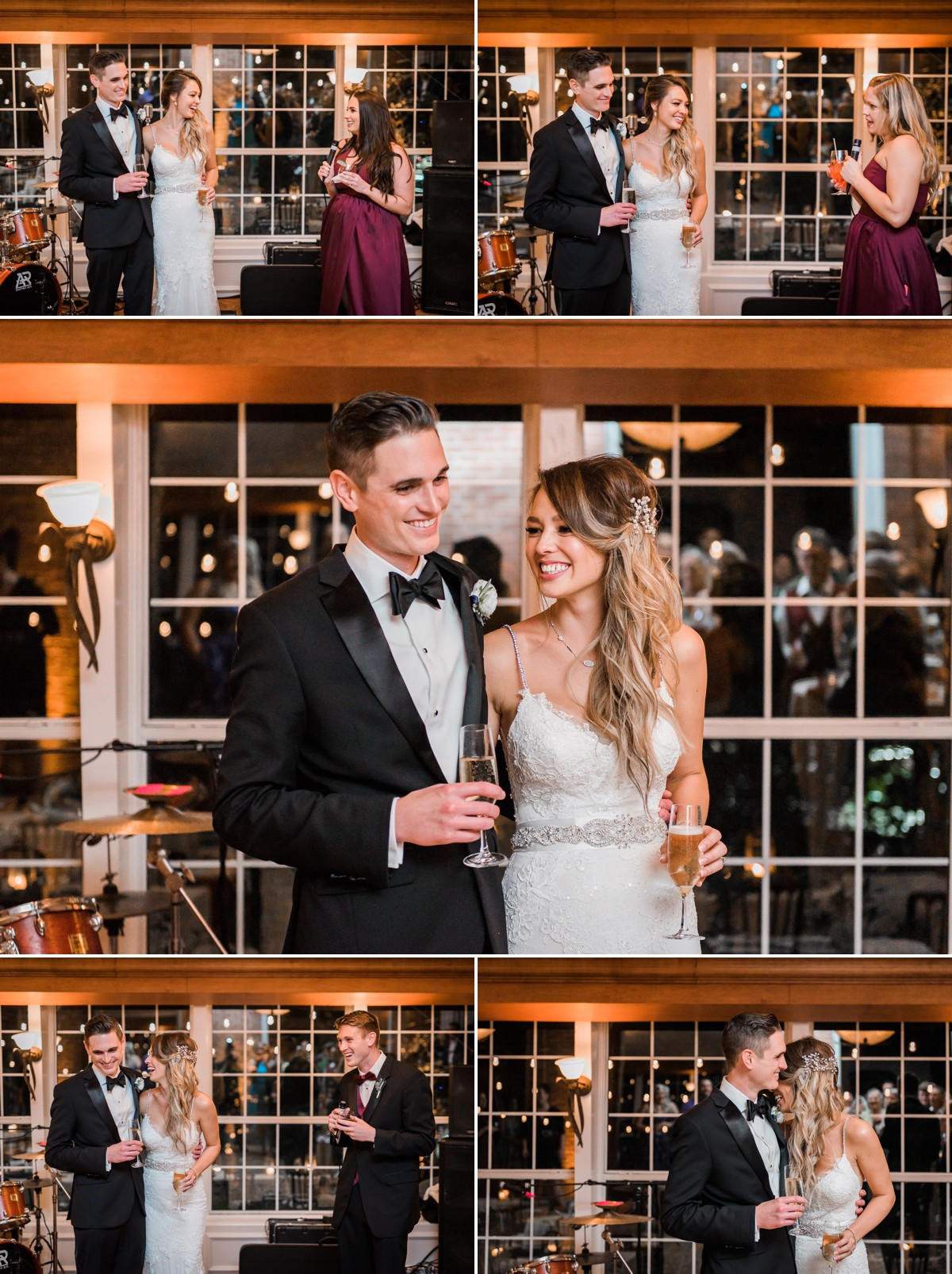 Manor House Wedding at The Houstonian Hotel Reception Toast Bride and Groom