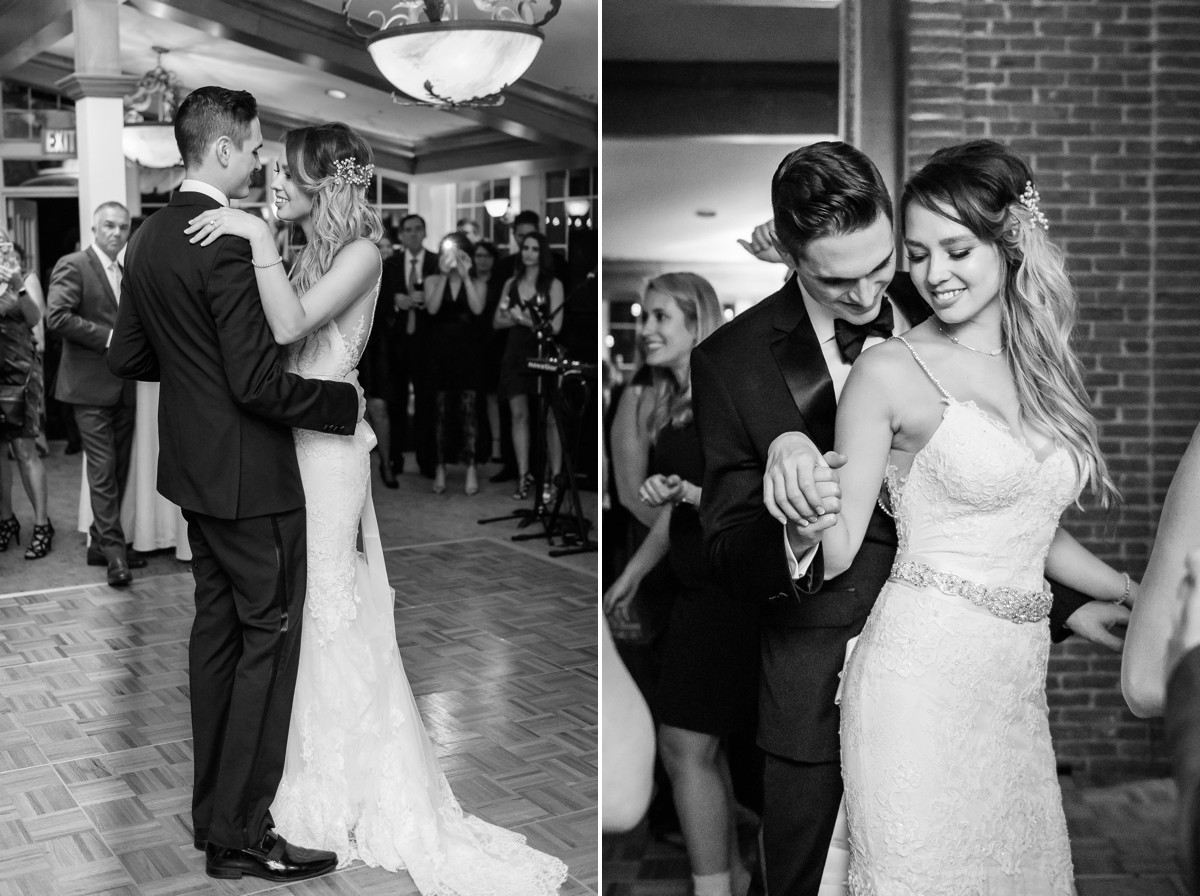 Manor House Wedding at The Houstonian Hotel reception fist dance bride and groom