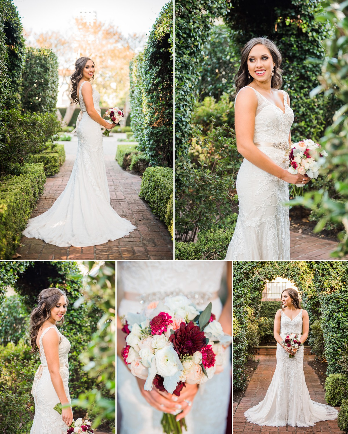 River Oaks Garden Club Wedding Bride