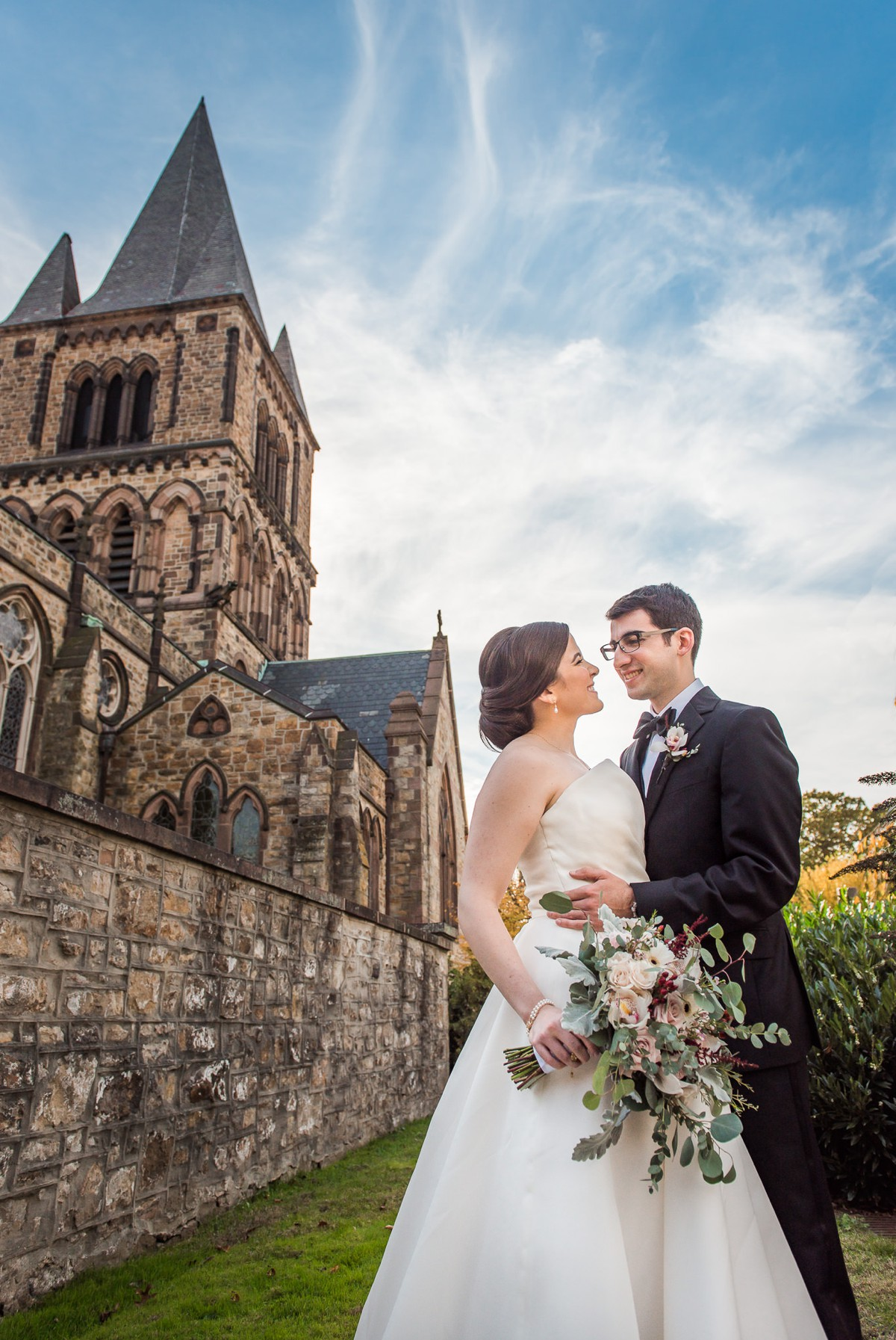 Princeton New Jersey Wedding Bride and Groom at Church