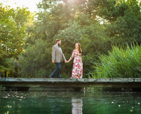 Houston Engagement Photos at Hermann Park