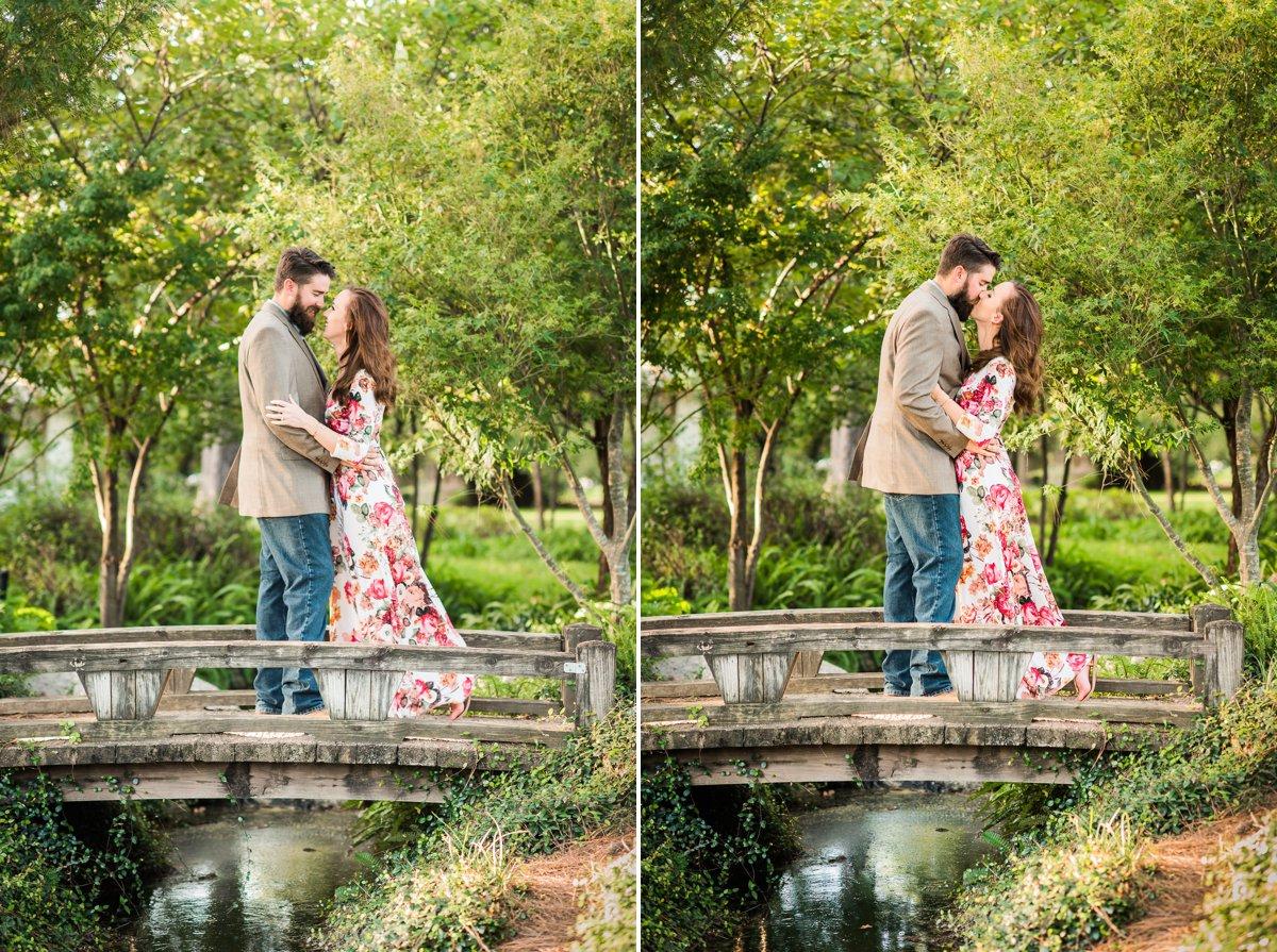 Houston Engagements Hermann Park Garden Bride and Groom
