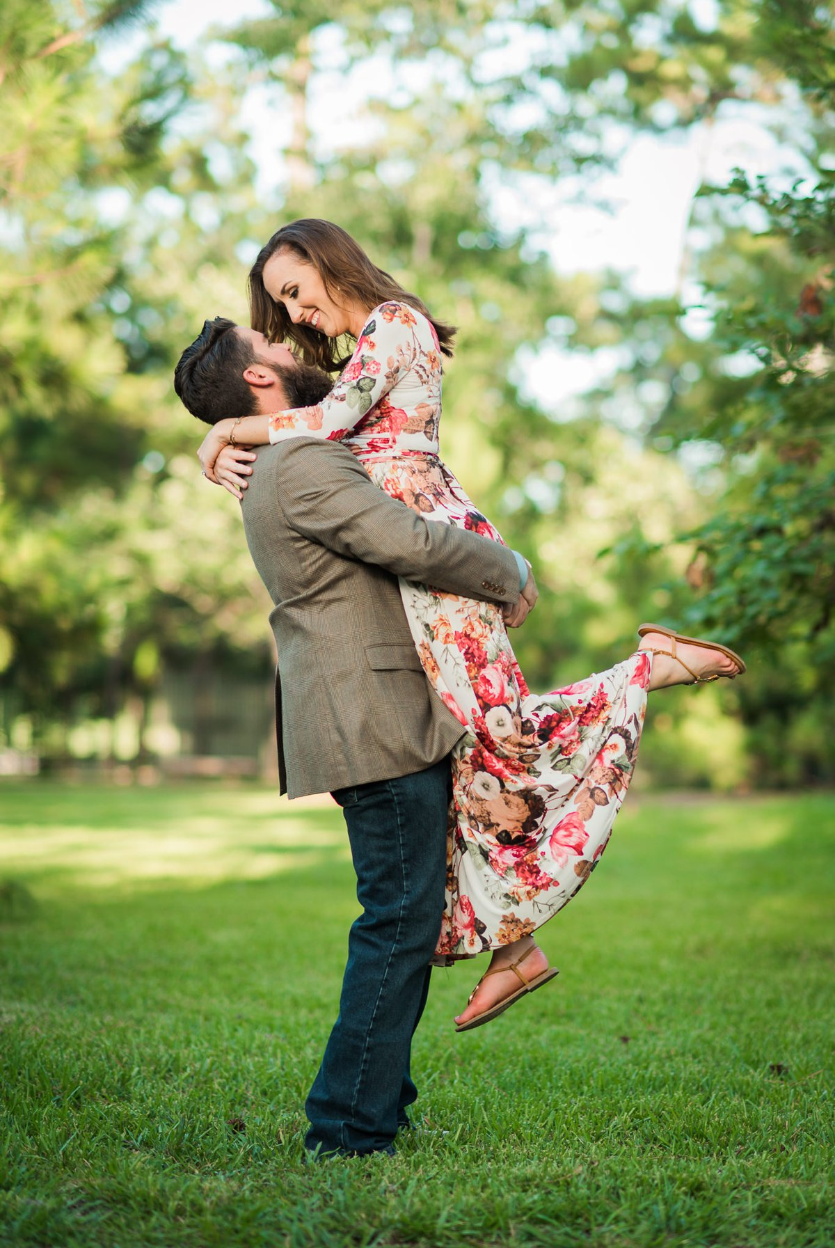 Houston Engagement Photos at Hermann Japanese Gardens Park Bride and Groom