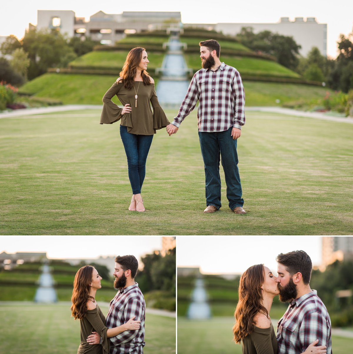 Houston Engagements Photos at McGovern Gardens
