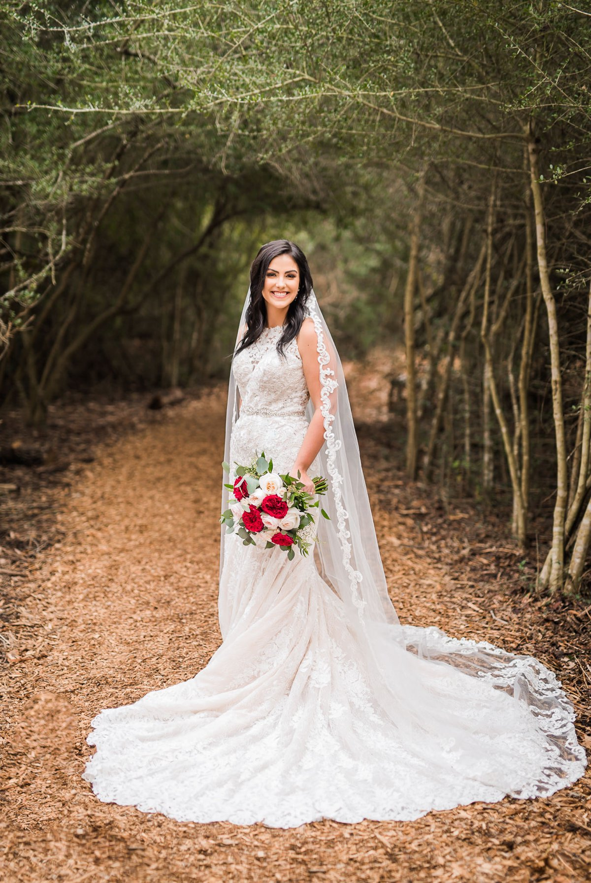 Houston Winter Bridal Portraits by Nate Messarra