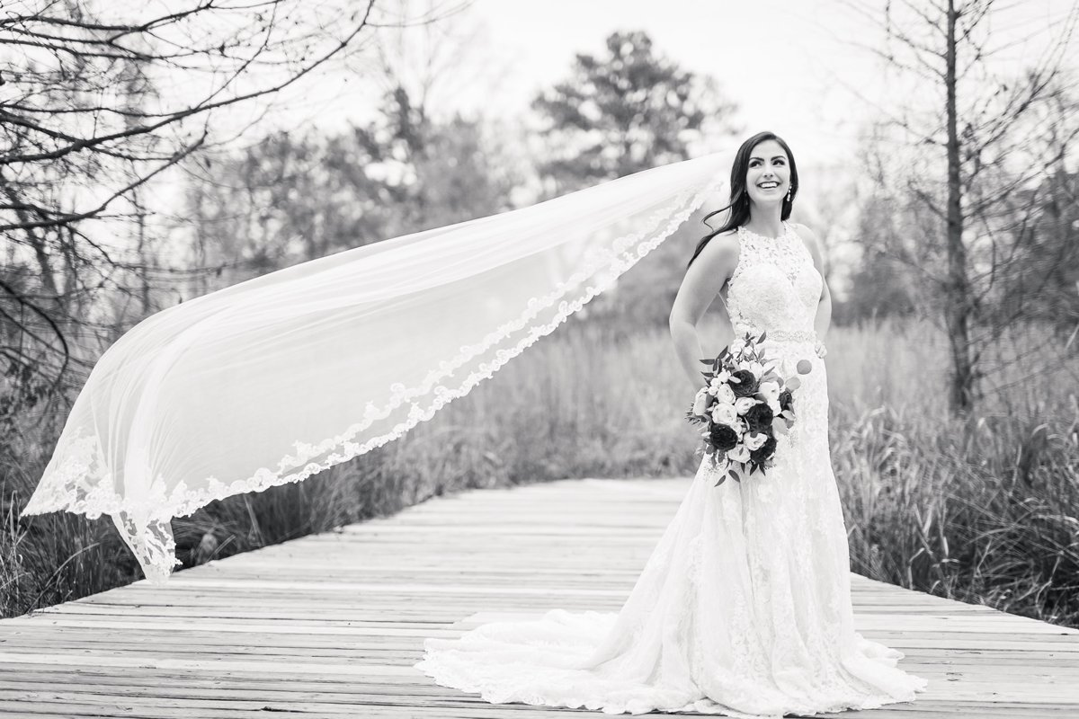 Winter-Bridal Portraits in Houston by Nate Messarra