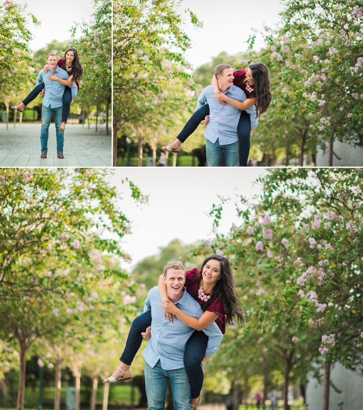 Spring Engagement Photos at Hermann Park