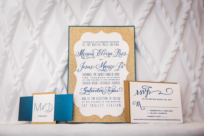 Galveston Wedding Invitations by Houston Wedding Photographers Nate Messarra Photography