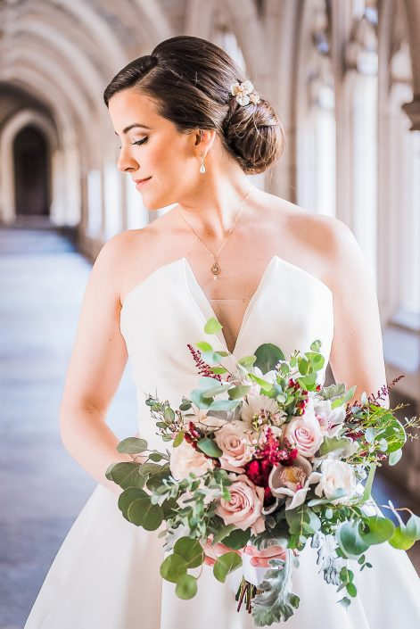 Stunning Bridal Portrait by Houston Wedding Photographers Nate Messarra Photography