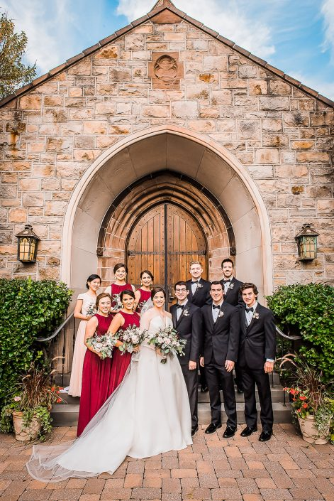 Wedding Party Portrait by Houston Wedding Photographers Nate Messarra Photography