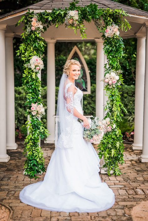 Bridal Portrait at Butlers Courtyard by Houston Wedding Photographers Nate Messarra Photography