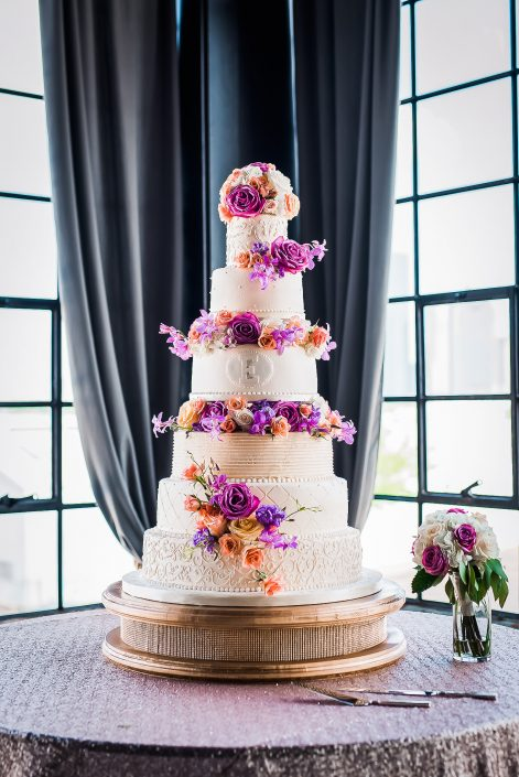 Astorian Wedding Reception Cake by Houston Wedding Photographers Nate Messarra Photography
