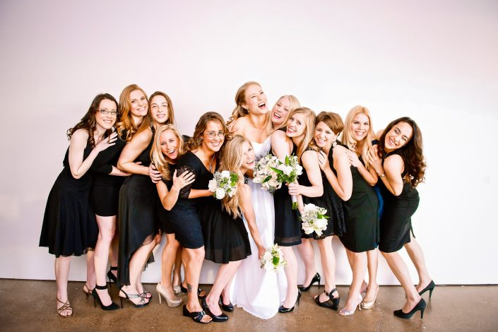 Bridal Party Fun by Houston Wedding Photographers Nate Messarra Photography