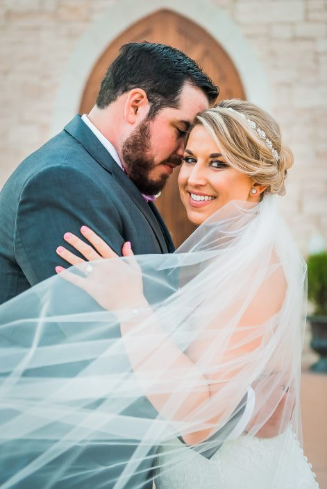 Ashton Gardens Wedding Bride and Groom by Houston Wedding Photographers Nate Messarra Photography