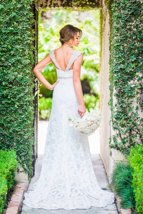 Bell Tower on 34th Bridal Portrait by Houston Wedding Photographers Nate Messarra Photography