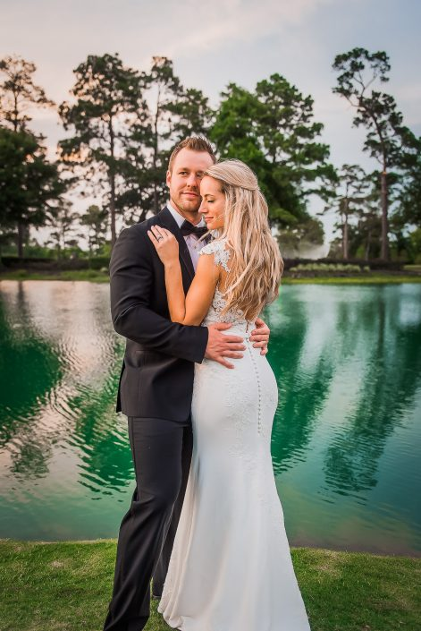 River Oaks Country Club Wedding Bell Tower on 34th Bridal Portrait by Houston Wedding Photographers Nate Messarra Photography