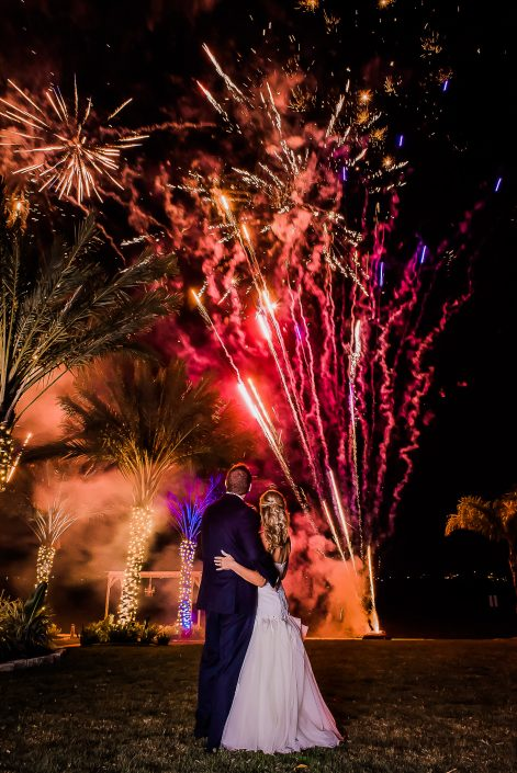 Firework Show by Houston Wedding Photographers Nate Messarra Photography