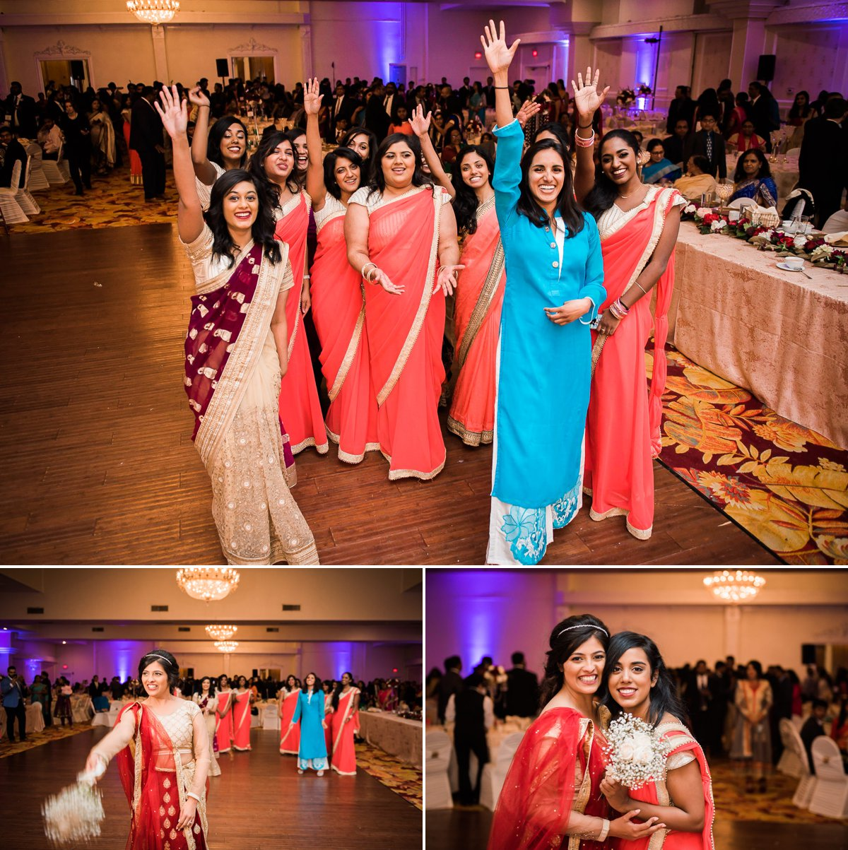 Grace-Allen Indian Wedding Reception Photo with friends