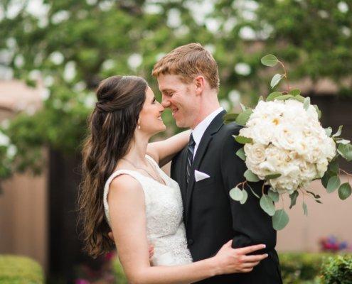 The Parador Wedding Bride and Groom