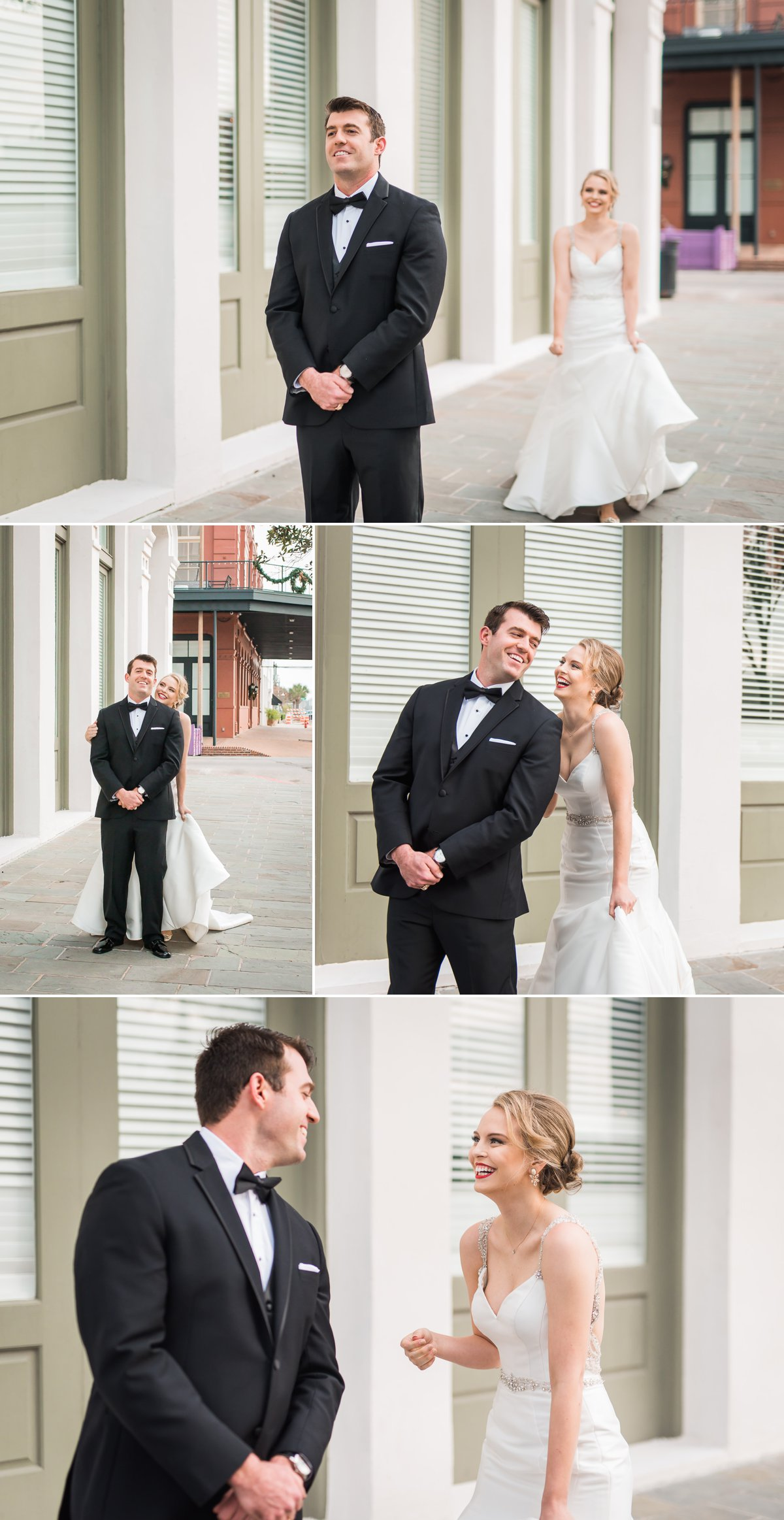 Tremont House Wedding Bride and Groom First Look