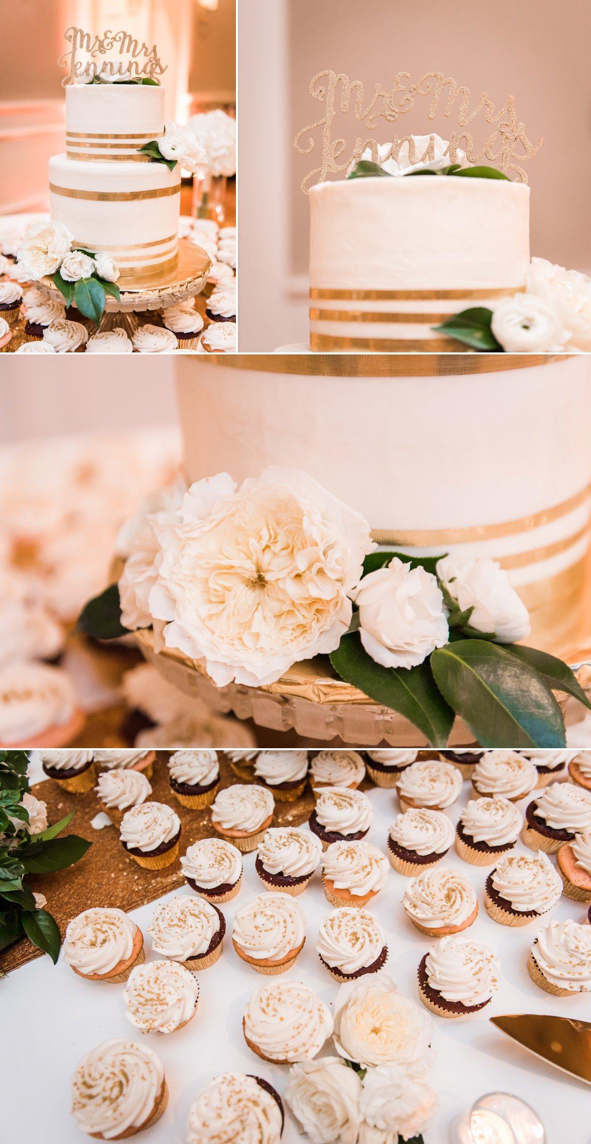 Lauren & Bryan Wedding Cake and Flower Photo