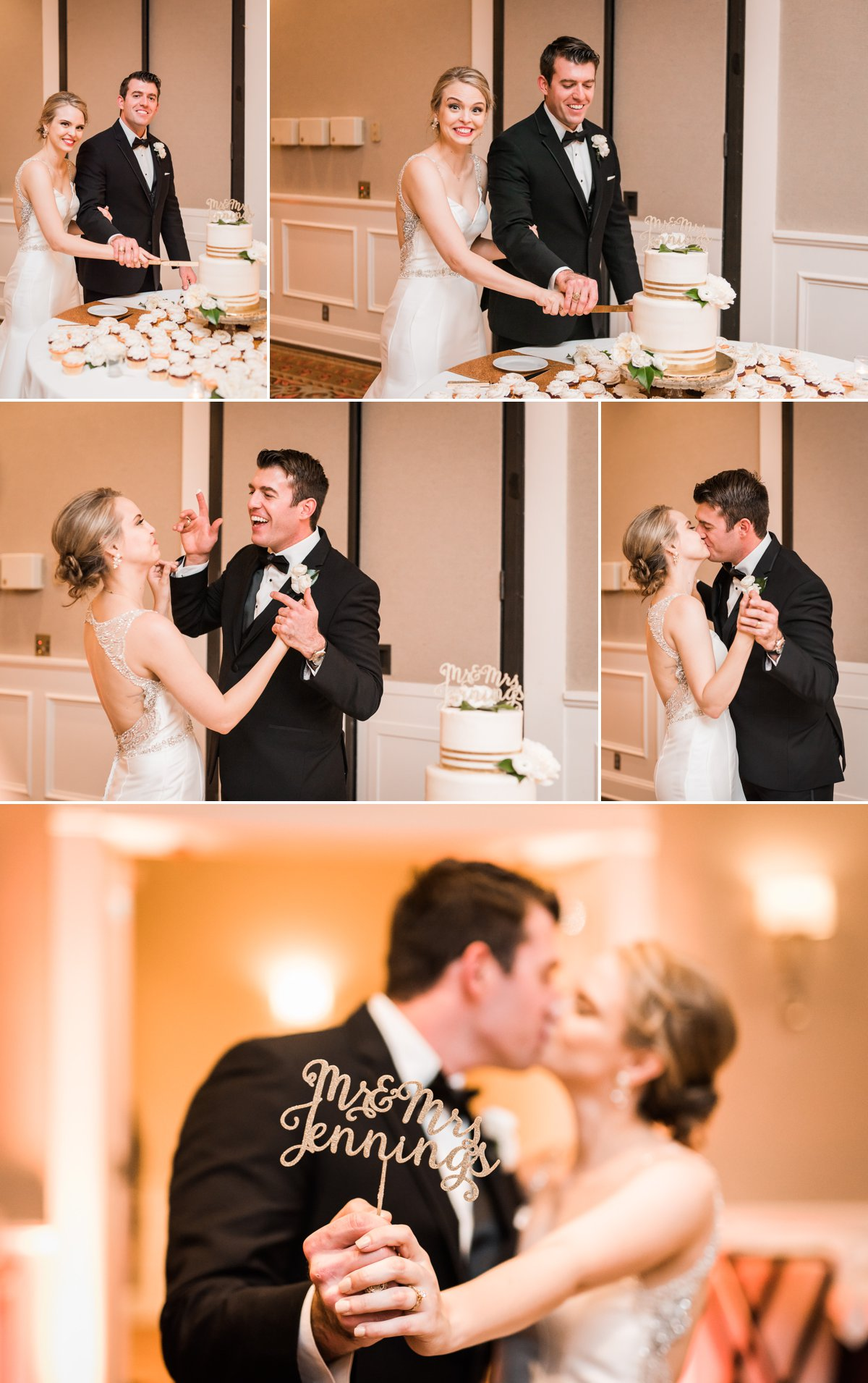 Lauren & Bryan Wedding Cake Cutting Photos