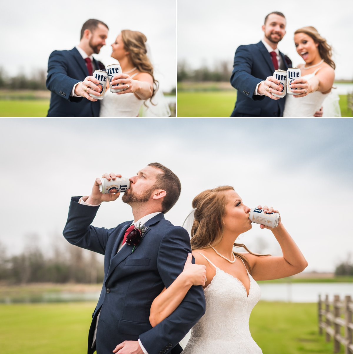 Miller Lite Bride and Groom