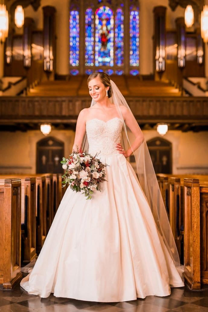 St. Paul's United Methodist Bridal Portrait Houston