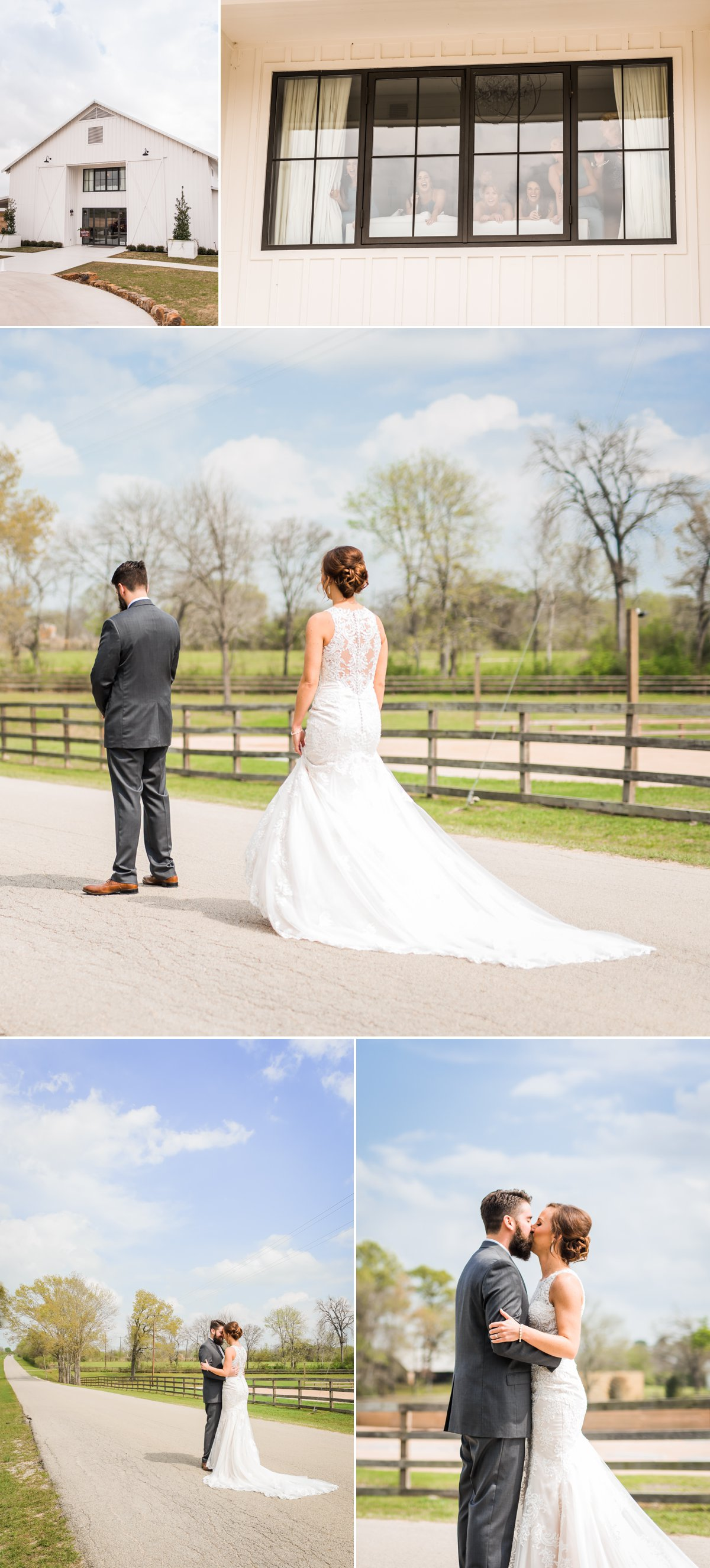 The Farmhouse Wedding Venue First Look by Nate Messarra Photography
