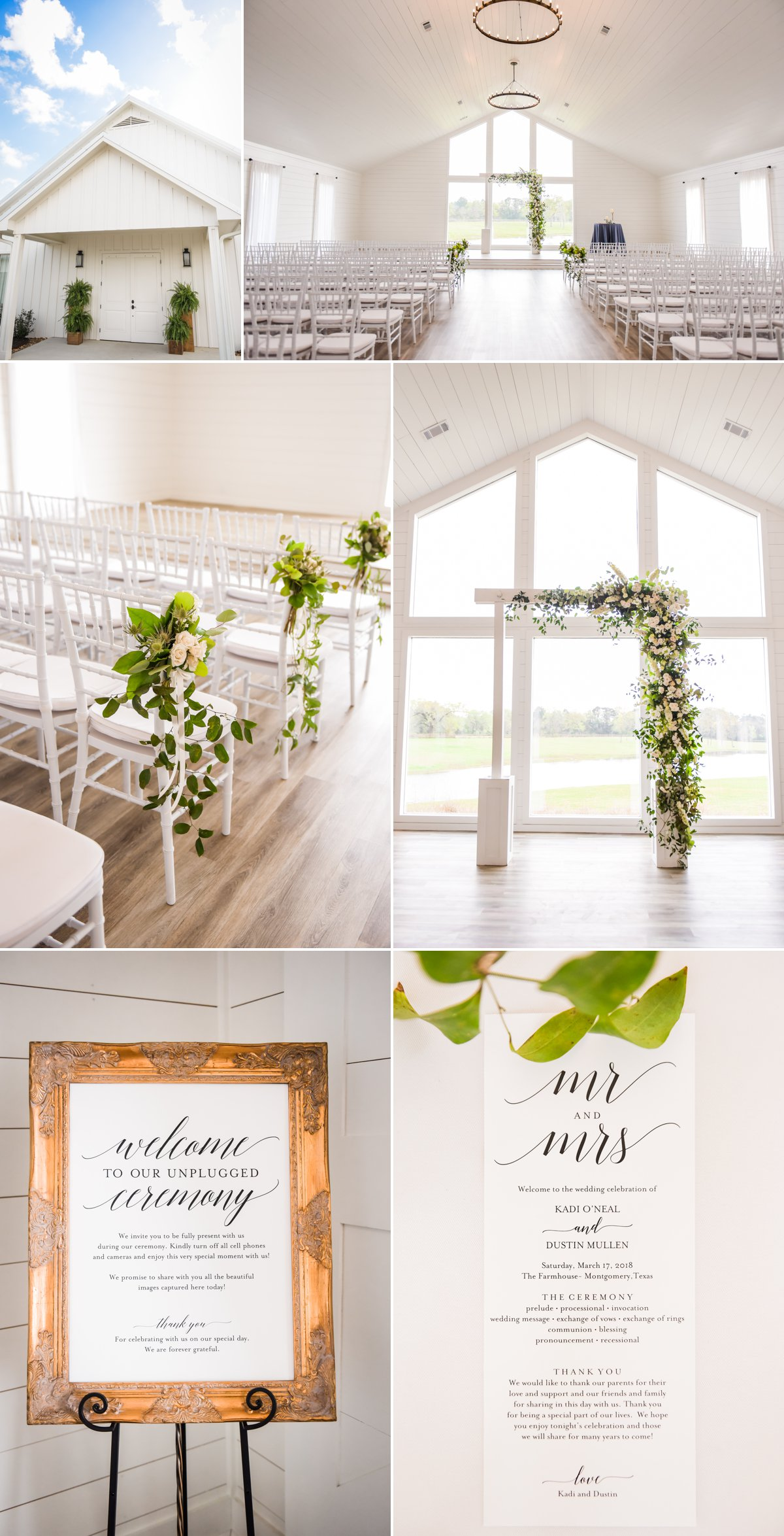 The Farmhouse Wedding Venue Wedding Ceremony Details