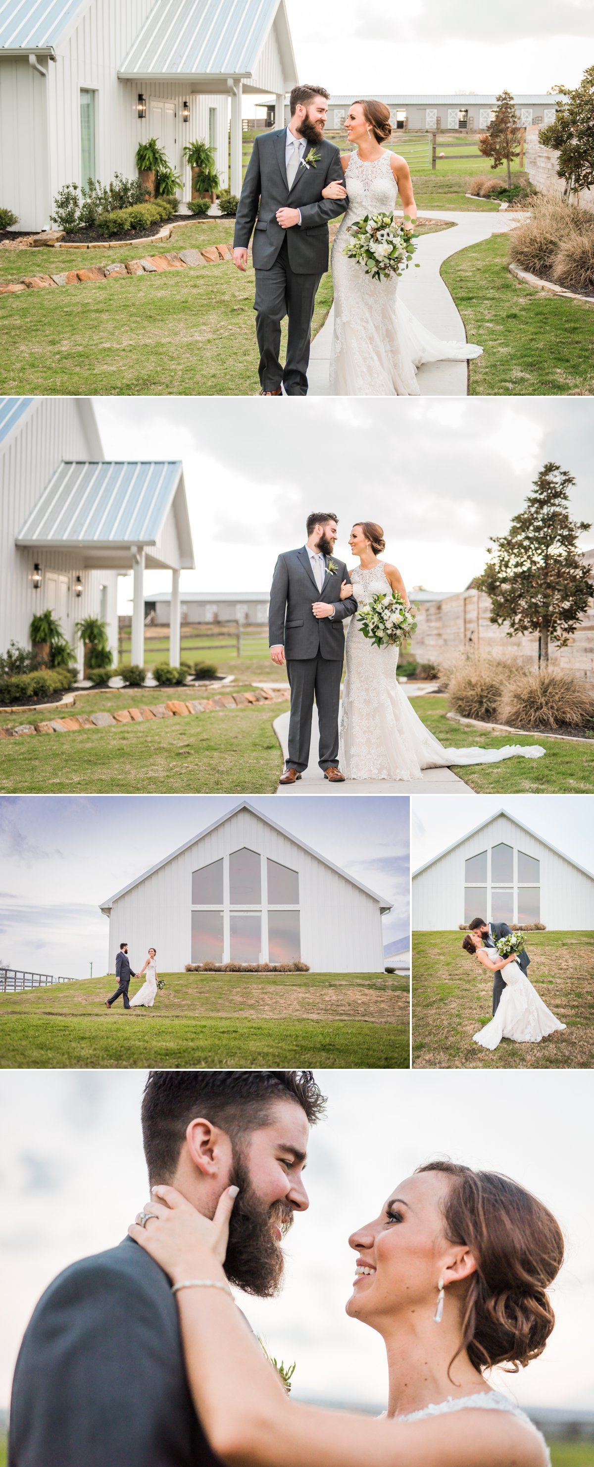 The Farmhouse Wedding Venue Houston Bride and Groom