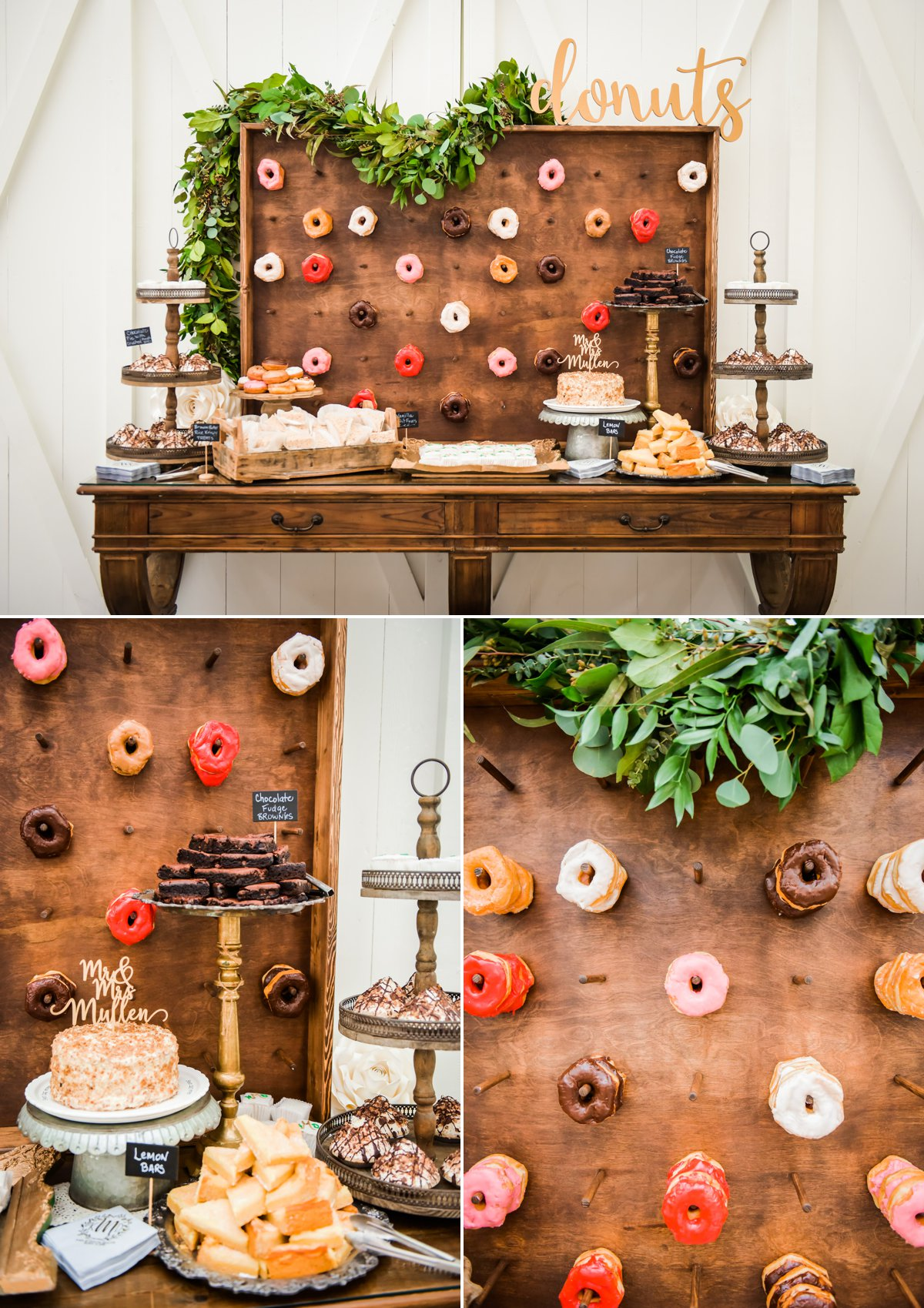 The Farmhouse Wedding Venue Houston Dessert Bar with Donuts