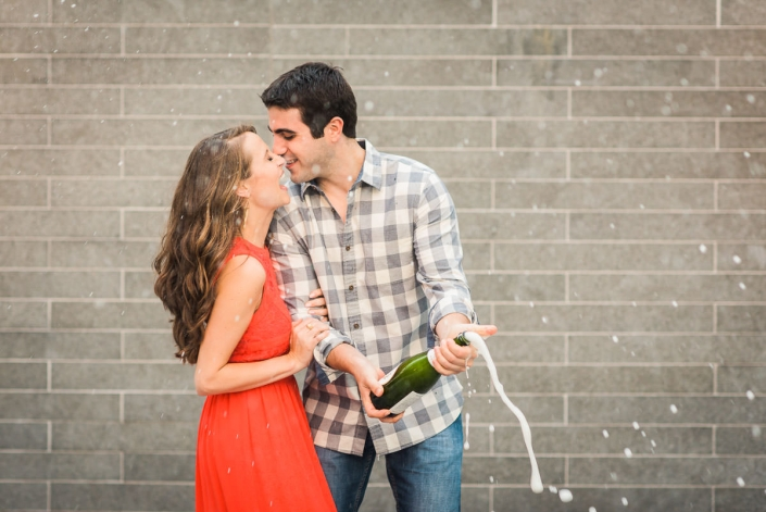 Champagne Toast Houston Engagement and Wedding Photography