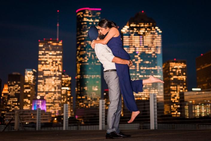 Skyline Houston Engagement and Wedding Photography
