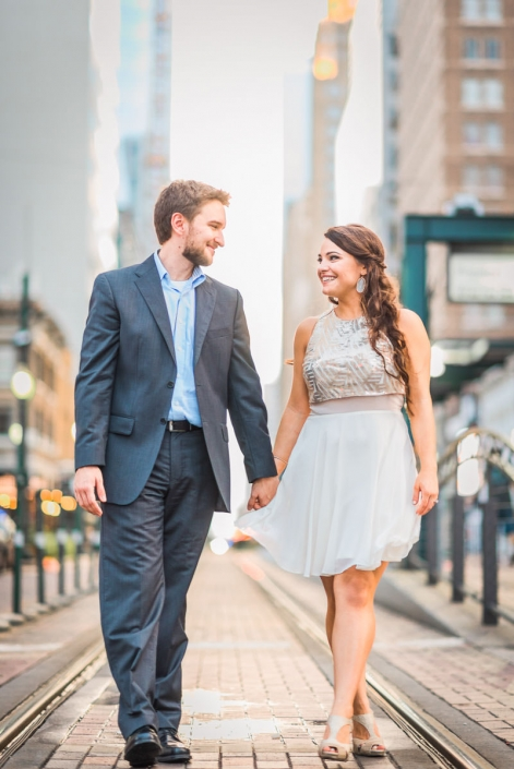 Downtown Houston Engagement and Wedding Photography