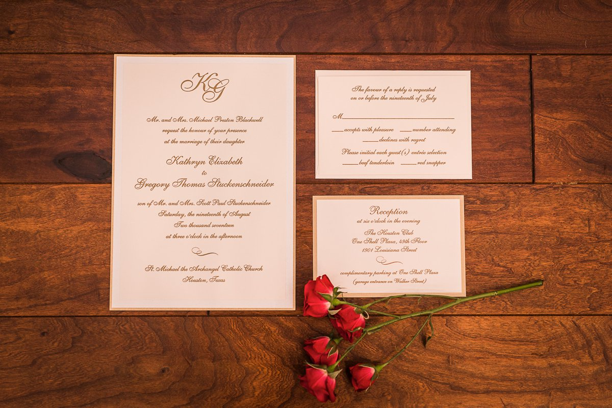Houston Club Wedding Details