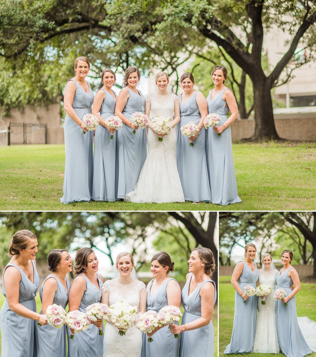 Houston Club Wedding Bride and Bridesmaids