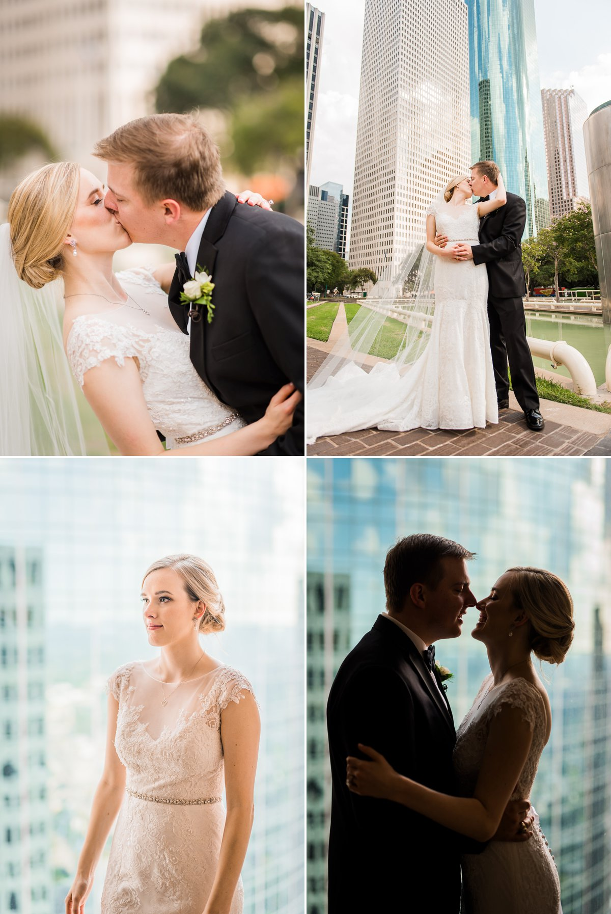 Houston Club Wedding Portraits
