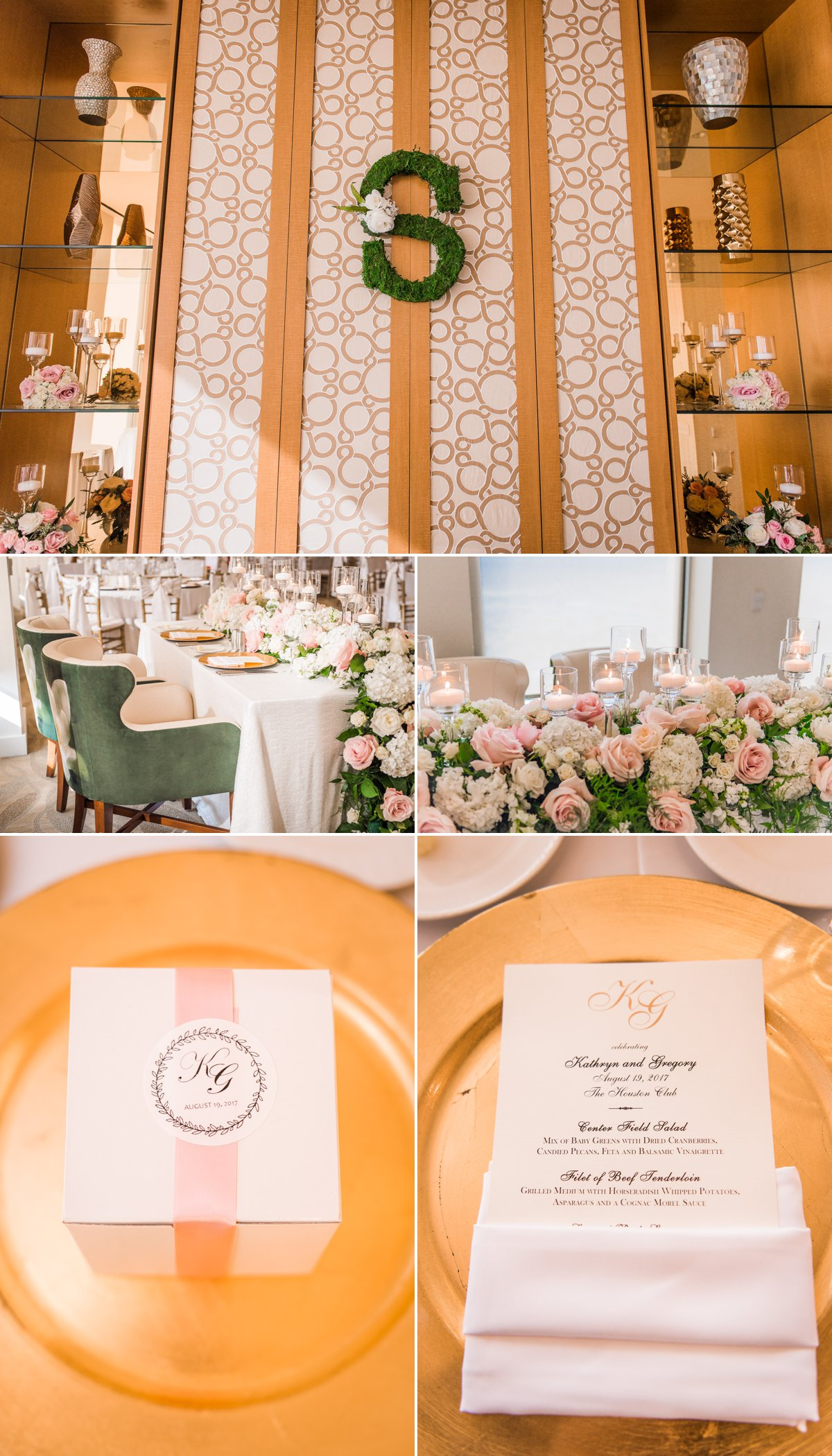 Houston Club Wedding Decorations and Details