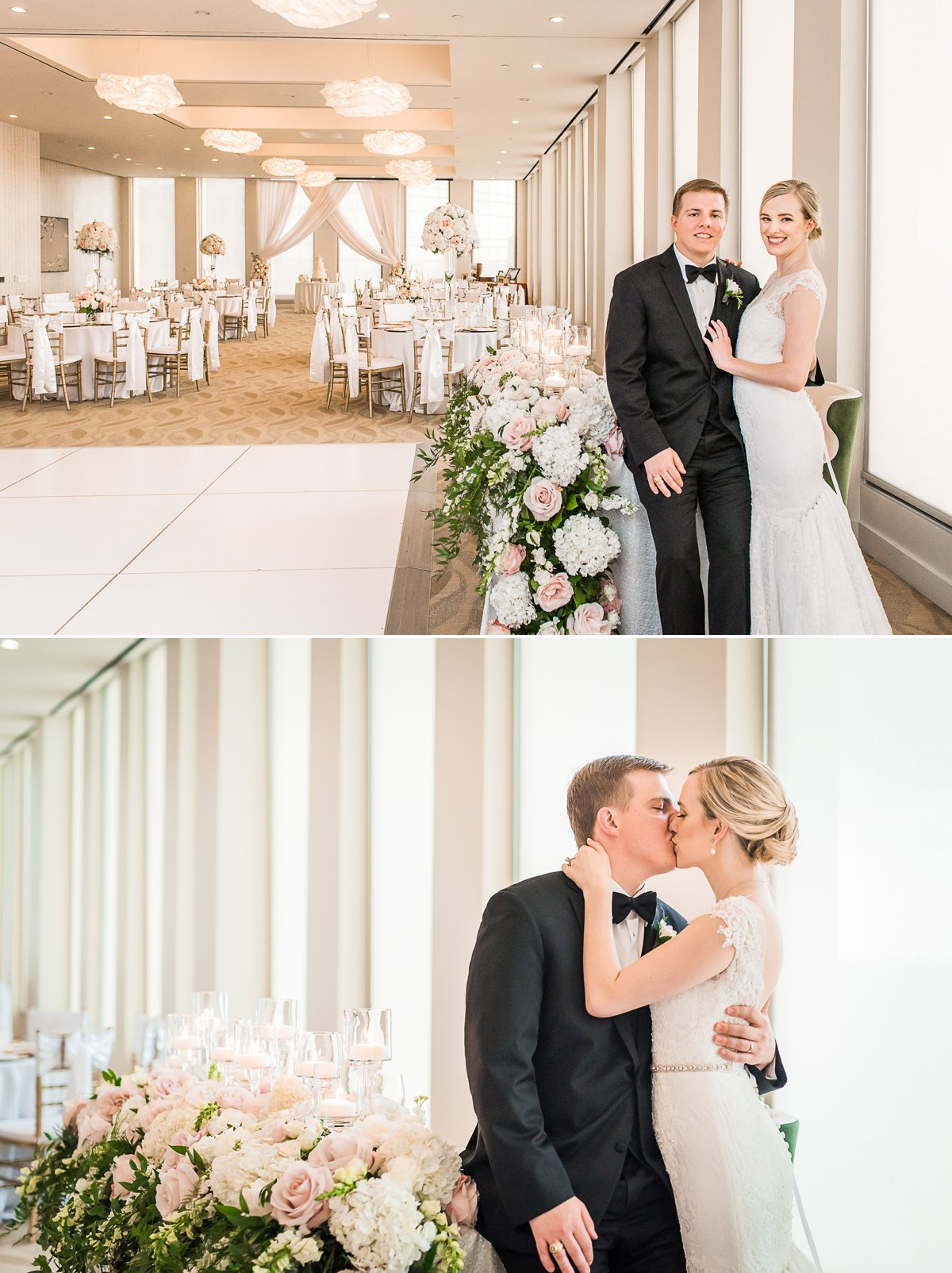 Houston Club Wedding Portraits with Bride and Groom