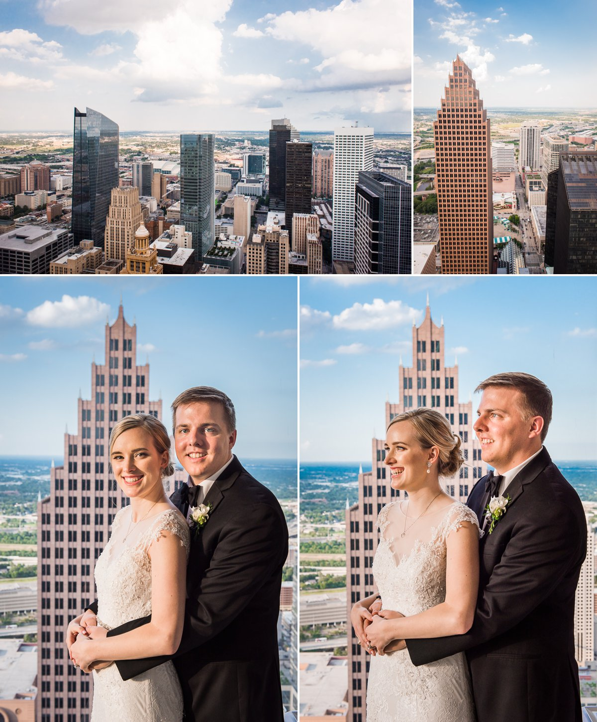Houston Club Wedding Skyline Portraits