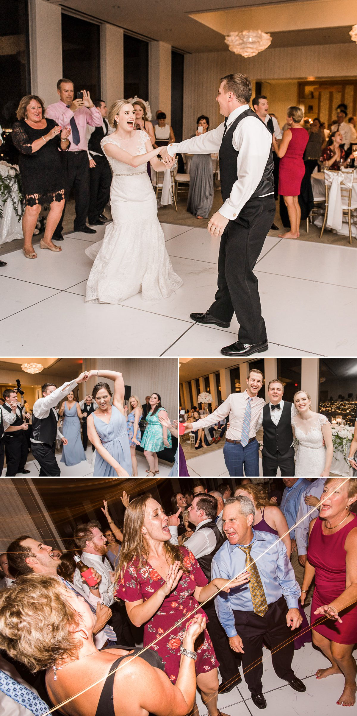 The Houston Club Wedding Dance Floor