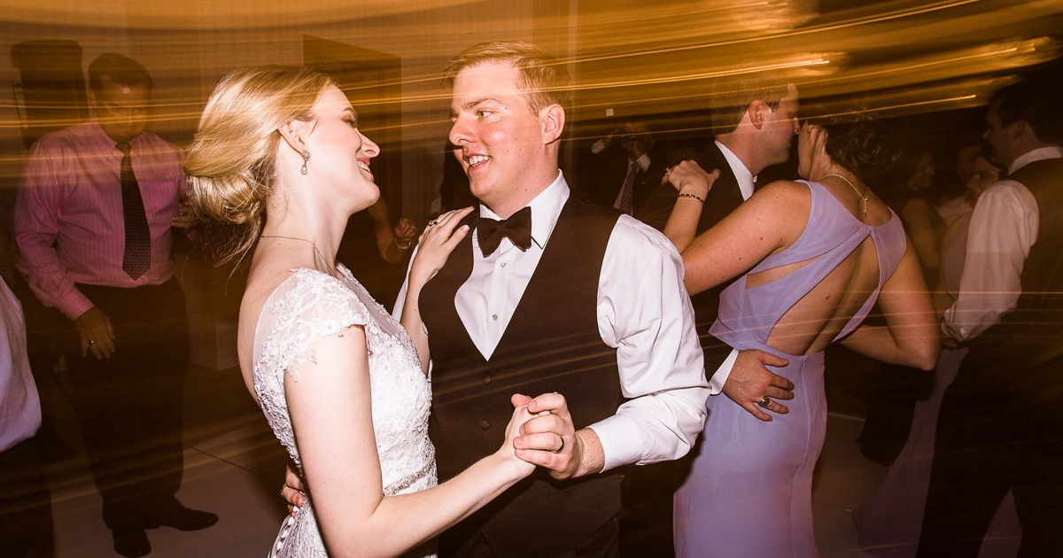 The Houston Club Wedding Bride and Groom Dancing