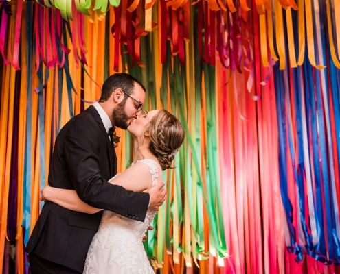 Colorful Houston Event Venue Wedding