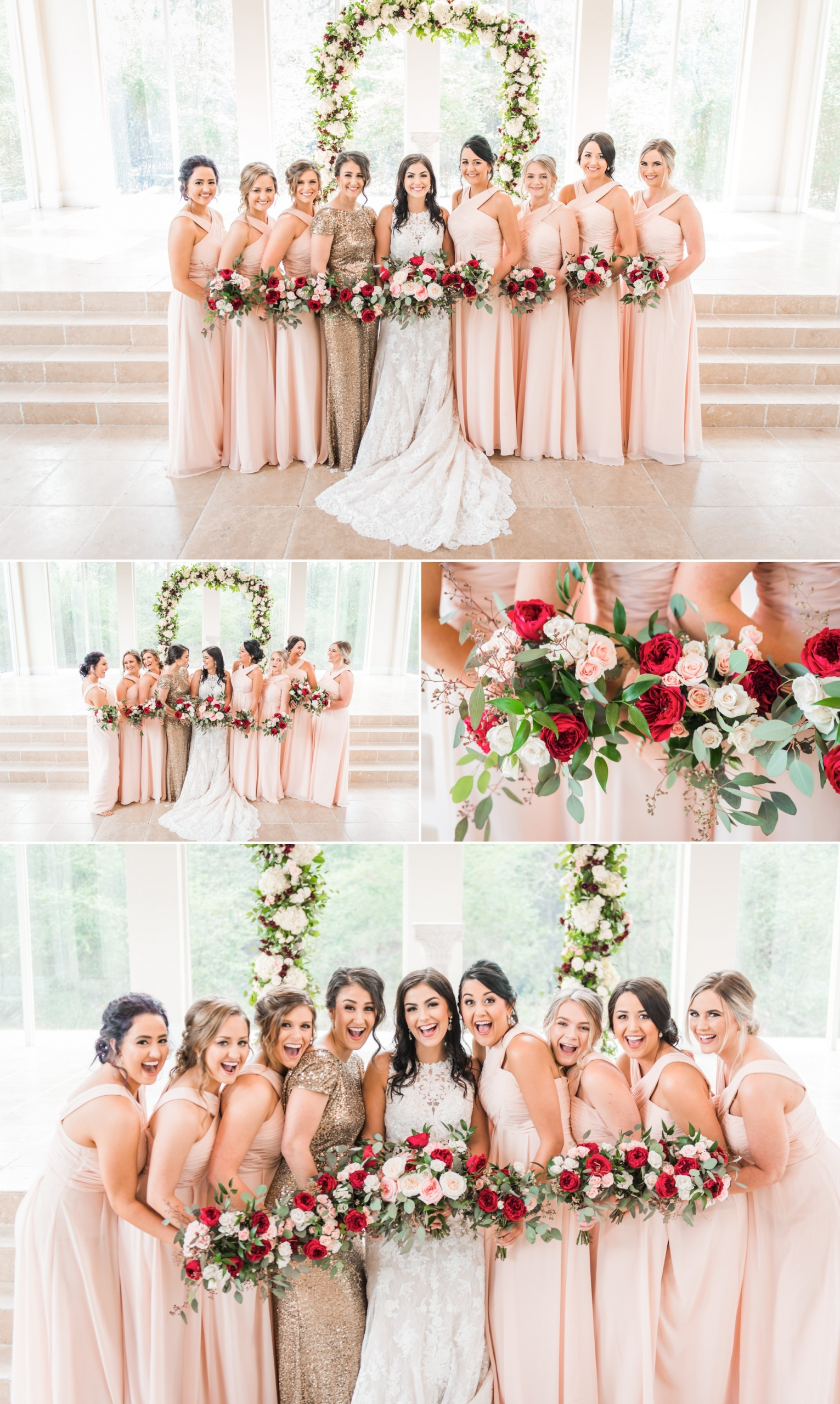Ashton Gardens North Bride and Bridesmaids