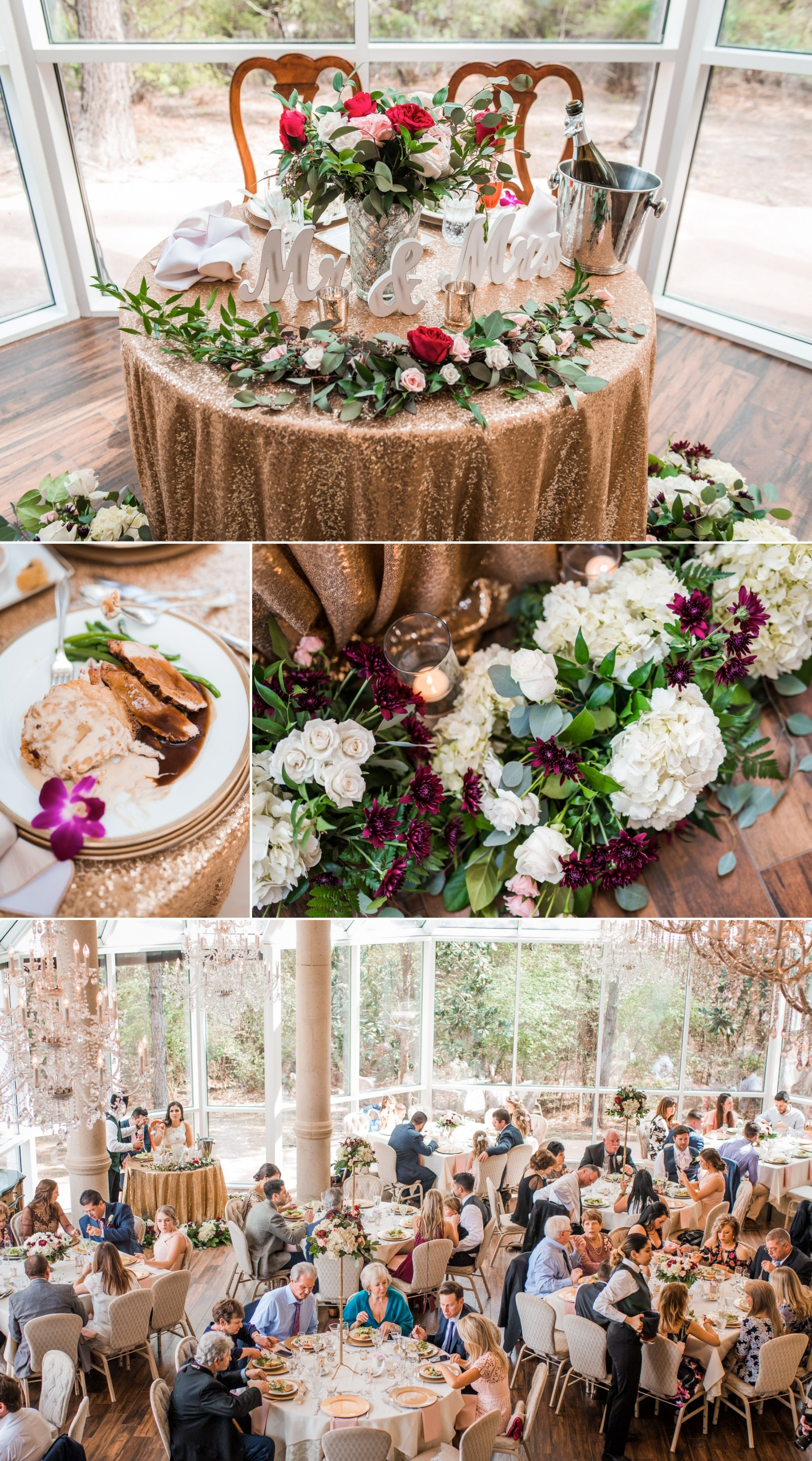 Ashton Gardens North Wedding Reception Decor